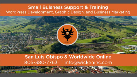 WickenInc WordPress Website Developer San Luis Obispo