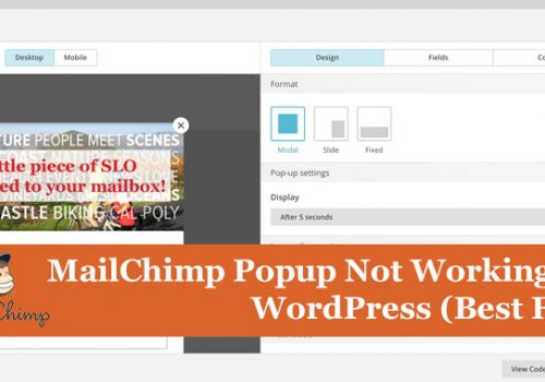 MailChimp Popup Not Working In WordPress (Best Fix)
